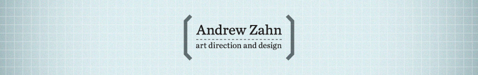 Andrew Zahn: art direction and design